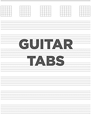 GUITAR TABS: 8.5x11 blank guitar tab notebook, tablature paper for ...