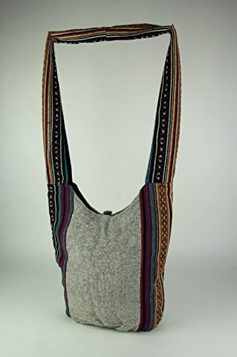 Body Cross Grey Womens Crossbody Tribal Cotton Boho Sea Cotton Henna Stripe Turtle Bags Bag qxaw5wO