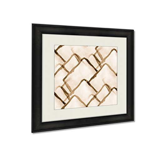 Ashley Framed Prints Design Watercolor A Yellow Green Ab, Wall Art Home Decor, Sepia, 26x26 (frame size), AG252217 by Ashley Framed Prints
