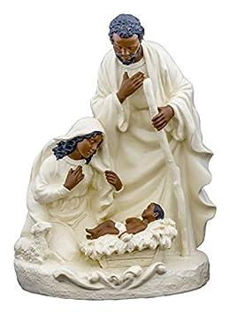 Ebony Treasures Holy Family in Ivory