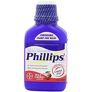 Phillips Wild Cherry Milk of Magnesia Liquid, 26 Ounce Bottle (3 Pack)