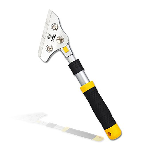 Wall Scraper, Blade Scraper with Adjustable Handle(27-38cm), Aluminum Alloy Multi-Angle Rotation Clean Tool, Ideal for Cleaning Wall, Floor, Glass