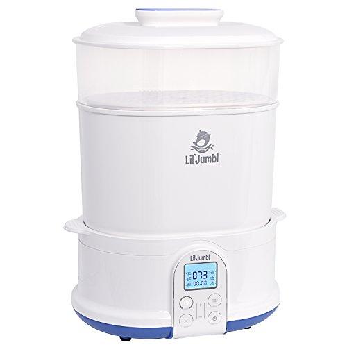 Lil' Jumbl 4-in-1 Bottle Sterilizer Warmer & Dryer w/Food Steamer Function – Digital LCD Display with Custom Heat Settings by Lil' Jumbl (Image #4)