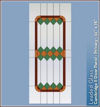 Cambridge II鉛ガラスステンドグラスプライバシーウィンドウフィルム – 32 in x 78 in B008C2578I