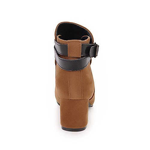 Heel Boots 1TO9 Not Yellow Closure Toggle No Closed Water Toe Warm Rubber Kitten Resistant Urethane MNS02407 Womens Boots Top Low Lining xqr5CqwR0