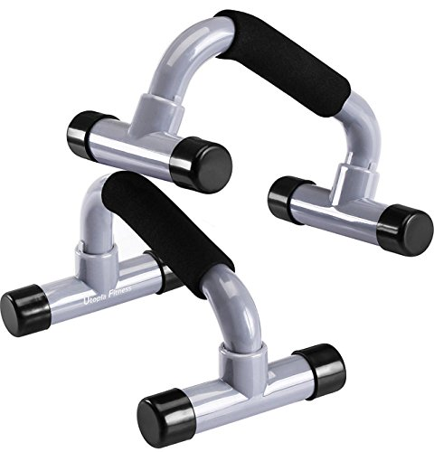Utopia Fitness Pushup Bars – Pushup Handles – Cushioned Foam Grips – Prevents Wrist Pain – Non-Skid Removable Base – Durable and Strong – Pair Package - Helps Develop Upper Body Strength