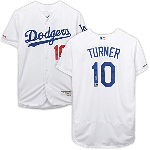 Los Angeles Dodgers Autographed Jersey - Justin Turner Los Angeles Dodgers Autographed White Majestic Authentic Jersey - Fanatics Authentic Certified