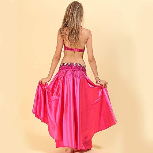 Indiano Costume Daytwork Gonne Danza Ventre Donne Solido Vestito Colore Nazionale Carnevale Rosa Del Chiffon Di Abbigliamento Ballo Reggiseno q0xrH8Znq