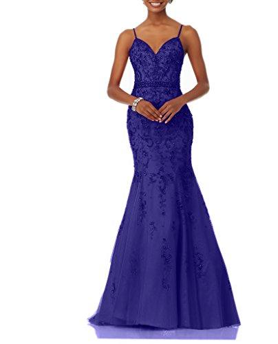 Abendkleider Lang Brautmutterkleider Neu Ballkleider Traeger Spitze mia 2018 Brau La Regency Spaghetti Meerjungfrau Festlichkleider wCnfT17q