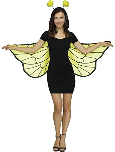 Bug Soft Wings and Antenna Headband Costume Accessory Kit - Bumble Bee Wings
