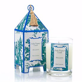 - Seda France Classic Toile Hyacinth Pagoda Candle
