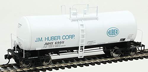 Run 16000 Gallon Funnel - 40' UTLX 16,000-Gallon Funnel-Flow Tank Car - Ready to Run -- J. M. Huber #69011 (white, black, blue)