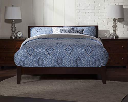 Atlantic Furniture AR8151004 Orlando Platform Bed with Open Foot Board, King, Walnut
