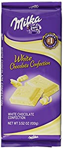 Milka White Chocolate, 3.52-Ounce Bars (Pack of 10)