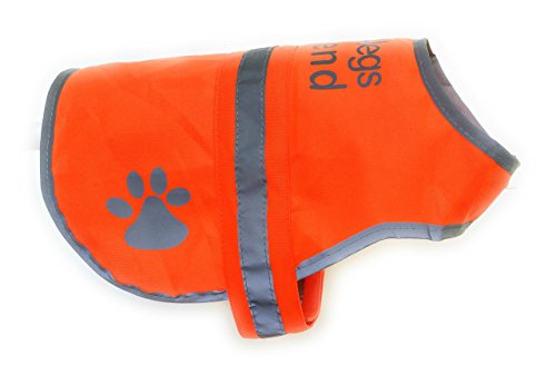 4LegsFriend Dog Safety Reflective Vest (5 Sizes, Medium) - High Visibility for Outdoor Activity Day and Night, Keep Your Dog Visible, Safe from Cars & Hunting Accidents | Blaze Orange