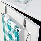 Tatkraft Horizon Over the Cabinet Door Stainless Steel Tea Towel Holder