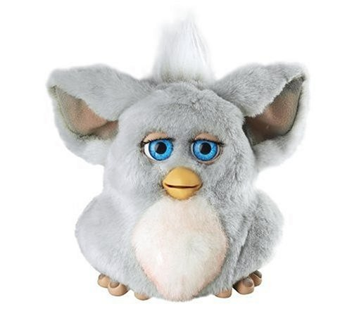 Furby 2005 Grey with Pink Belly - Blue Eyes