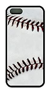 Baseball Pattern Theme Case for IPhone 4 4S Rubber Material Black