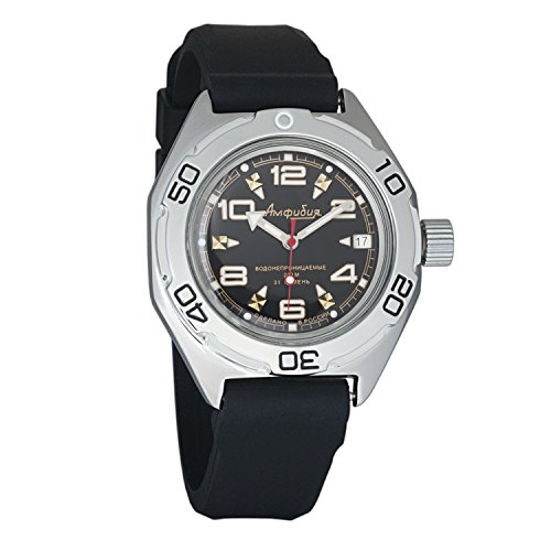 Case Dive Resin Watch (Vostok Amphibian Military Automatic WR 200m Mens Self-winding Amphibia Case Wrist Watch #670335 (resin))