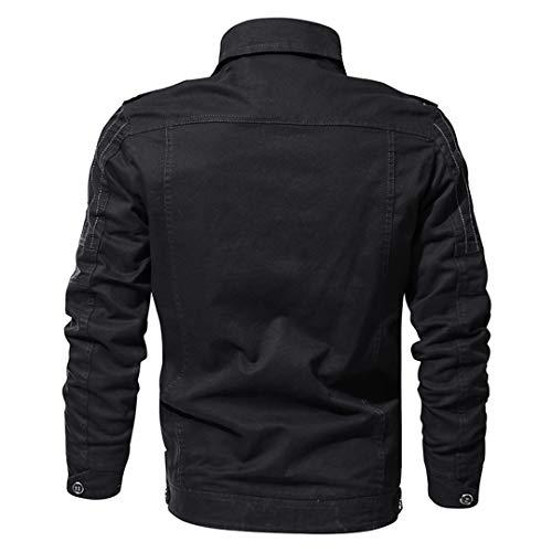 shirt shirt pilota da da da da T leggera uomo Giacca Black uomo aeronautica primavera fZXtx1wZq