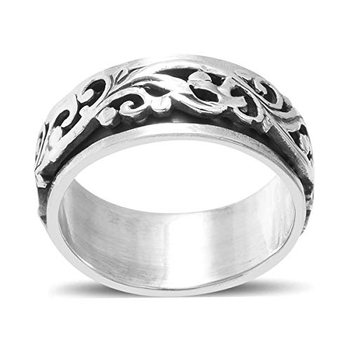 Shop LC Delivering Joy Celtic Fashion Stylish Spinner Band Ring 925 Sterling Silver Jewelry for Women Size 5