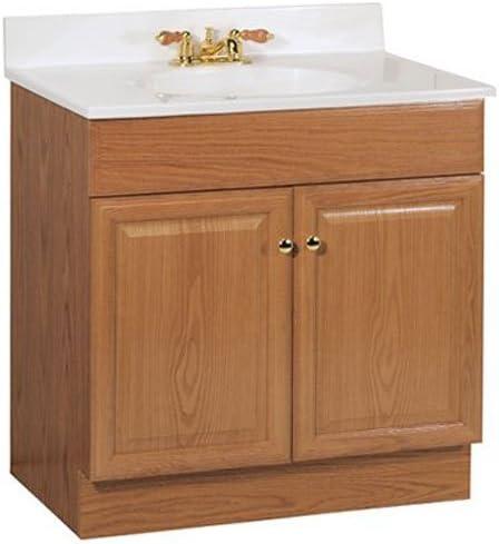 Amazon Com Rsi Home Products Sales 30w Oak Combo Vanity 30 Home Kitchen