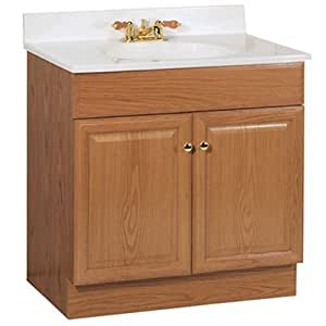 rsi home products sales c14030a oak combo vanity 30 home kitchen. Black Bedroom Furniture Sets. Home Design Ideas
