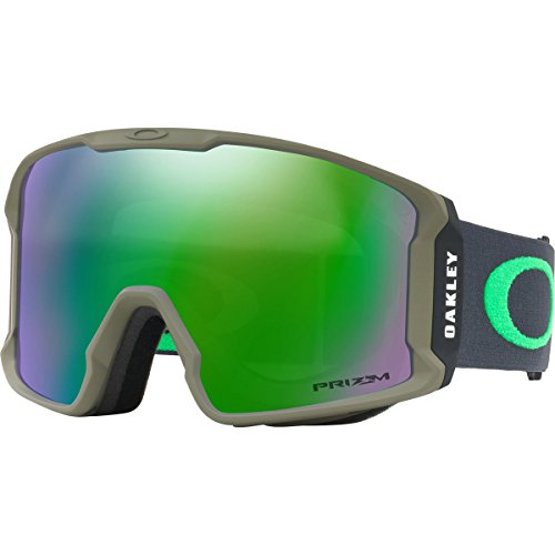 Oakley Line Miner Snow Goggles, Canteen Iron, - Goggles Oakley Green