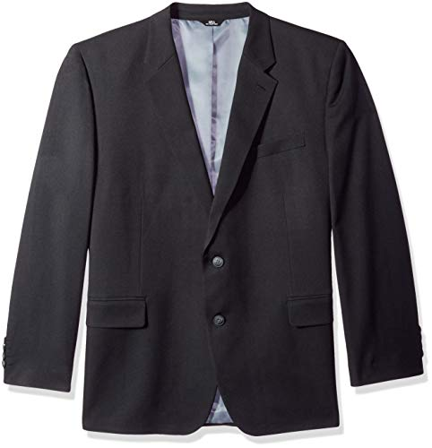 Haggar Men's Big and Tall B&T Heather Twill Stretch Classic Fit Suit Separate Coat, Black, 54R -