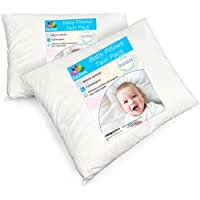 [2-Pack] Equinox Baby Toddler Pillows - 100% Cotton Cover...
