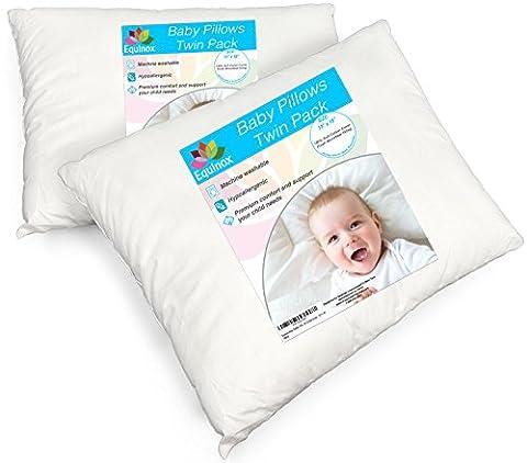 [2-Pack] Equinox Baby Toddler Pillow Set - 13