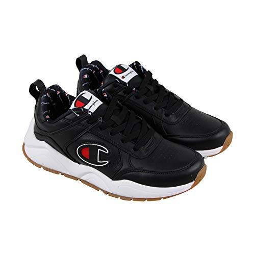 Champion Men's 93Eighteen Big C Black Leather 11 M US (Champions Sneakers Men)