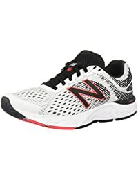 Men's 680v6 Cushioning Running Shoe, White/Black/Black, 7.5 XXW US