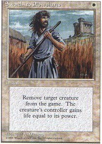 Magic The Gathering - Swords to Plowshares - Fourth Edition