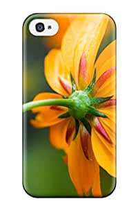 lintao diy Cute High Quality Iphone 4/4s Orange Daisy Case