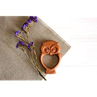 Wooden Rattle Wise Owl, Rattle With Buckwheat Grains, Wooden Rattle, Baby Gift