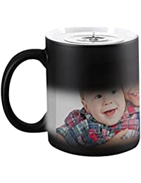 Magic Custom Photo Color Changing Coffee Mug Cup, Personalized DIY Print Hot Heat Sensitive Cup Ceramic Custom Mug, Keepsake Birthday Christmas Gift -Add YOUR PHOTO&TEXT