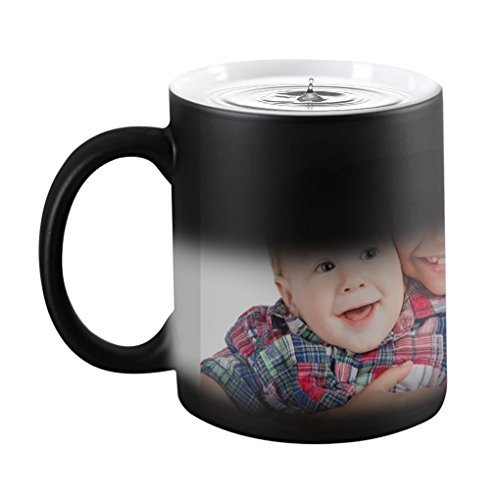 - Magic Custom Photo Color Changing Coffee Mug Cup, Personalized DIY Print Ceramic Hot Heat Sensitive Cup Birthday Christmas Gift -Add YOUR PHOTO&TEXT