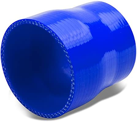 2.25 To 3 Straight Turbo//Intercooler//Intake Piping Coupler Reducer Silicone Hose Blue