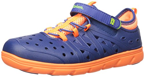 Stride Rite Made 2 Play Phibian Sneaker Sandal Water Shoe (Toddler/Little Kid/Big Kid), Navy, 6 M US Toddler
