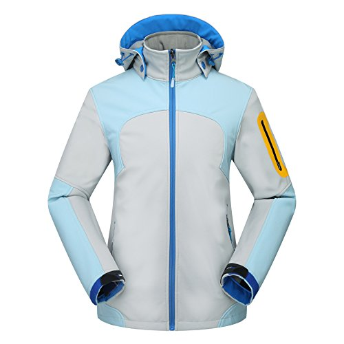 Hat Zipper Warm JACKETS Grey FYM Women Sleeves Coat Pocket DYF Men Down Ski Long Jacket dOvwqv0xnC