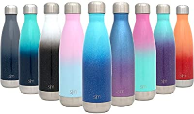 Simple Modern Wave Water Bottle - Vacuum Insulated Double Wall 18/8 Stainless Steel - 4 Sizes in 40+ Styles