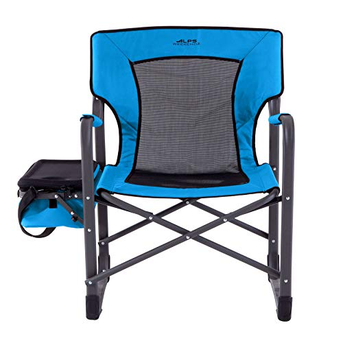 BrylaneHome Alps Cooler Camp Chair - Blue