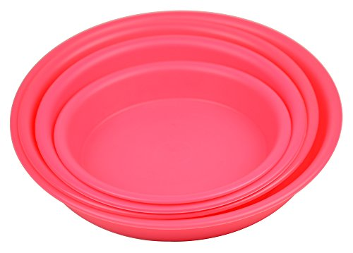 4.5'' Round Plant Saucer Planter Tray Pat Pallet for Flowerpot,Pink,1200 Count by Zhanwang
