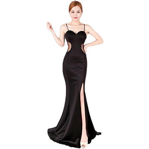 Slim Dress Black Gown Fit Sleeveless Cotyledon Womens Long Slip