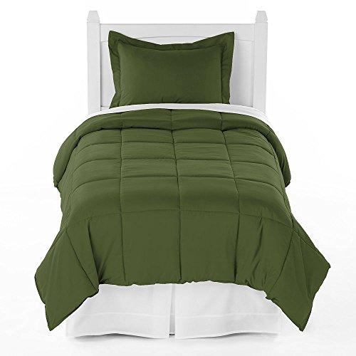 Ivy Union Premium Down Alternative Comforter Set Twin XL Extra Long / Twin - Green Ivy With