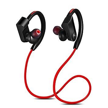 hangang Bluetooth auriculares inalámbrico cancelación de ruido auriculares inalámbrico auriculares deportivos con micrófono suave ganchos de oreja HD ...