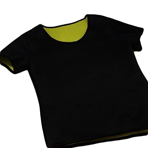 Valentina Womens Body Shapers T-Shirt Slimming Neoprene Vest Weight Loss Hot Sweat Shirt