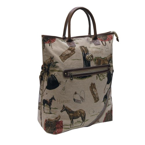 Oleg Cassini Pony Up Convertible Tote (Tapestry), Bags Central