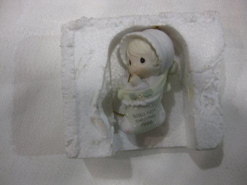 Precious Moments 1996 Baby's First Christmas Annual Edition Stocking Ornament by Enesco